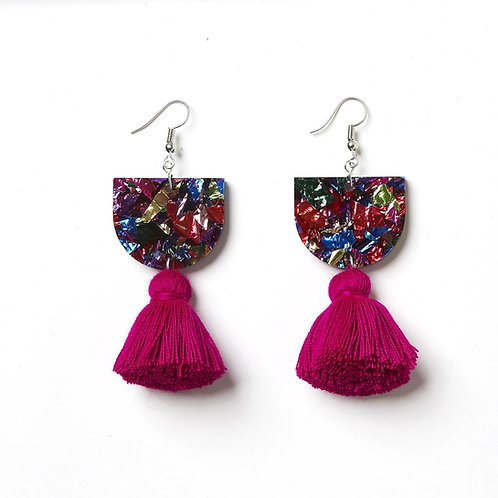 Emeldo Annie Earrings / Mixed with Magenta (Back In Stock!)
