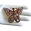 Thumbnail: Rhinestone and cabochon glass purple Butterfly brooch