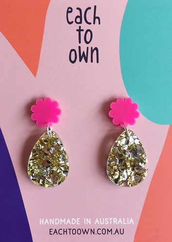 Each To Own Poppy- Pink and Lush Gold/Silver Glitter