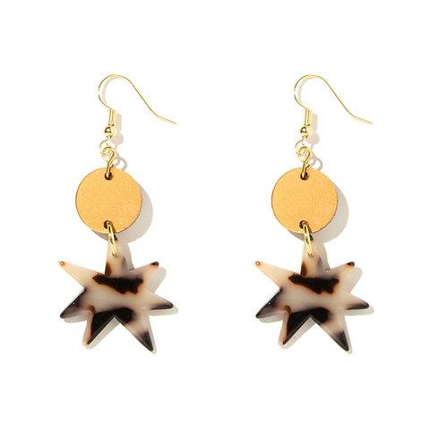 Emeldo- Tessa Earrings / Copper + Tortise