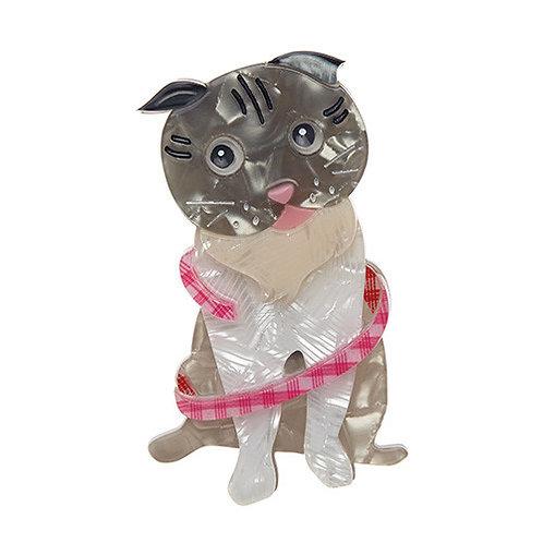 ERSTWILDER- Adorable Opie Cat Brooch