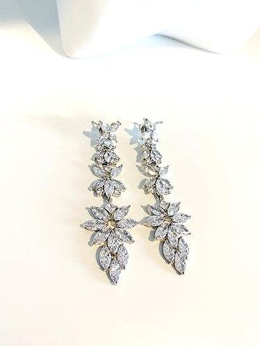 Clear Ice Cubic Zirconia Stones Drop Earrings