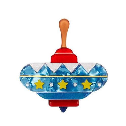 Erstwilder- Spinning Around Toy Brooch