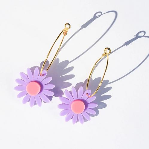 Emeldo- Daisy Earrings Mauve & Pink