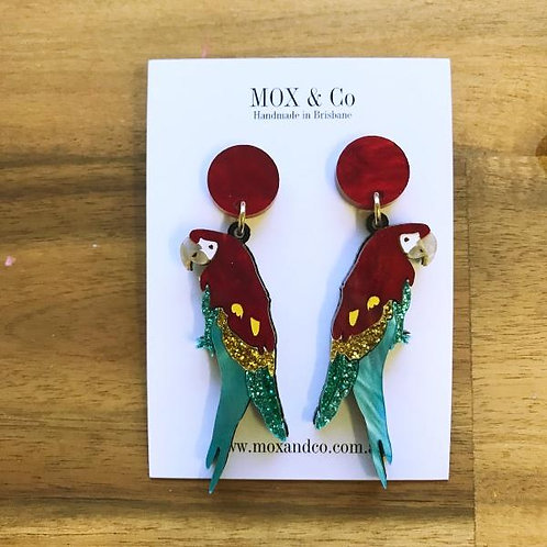Mox and Co Macawall on Me Macaw Dangles
