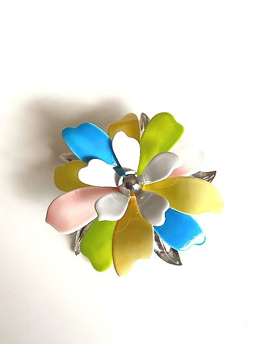 Sarah Coventry Mod Pastel Flower Brooch 1970's