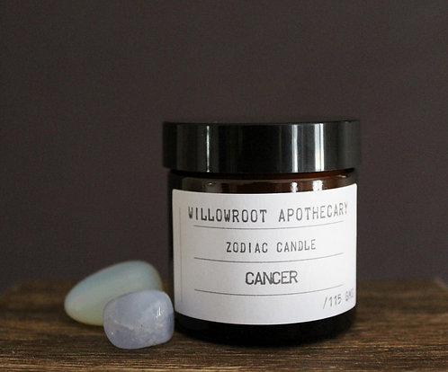 Willowroot Apothecary-   Cancer Zodiac Soy Candle