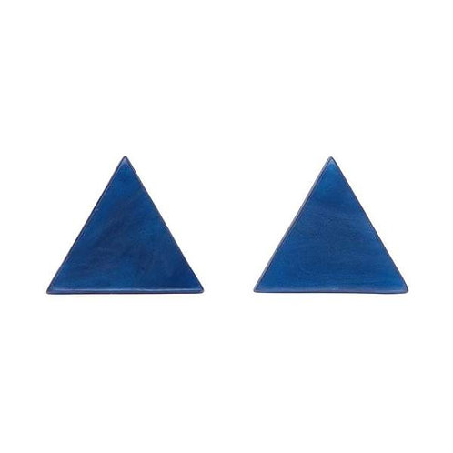 Erstwilder- Dark Blue Triangle Resin Stud Earrings