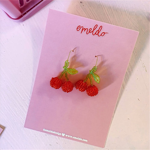 Emeldo-  Cherry Earrings