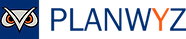 Clear Blue Planwyz Logo with Name to the