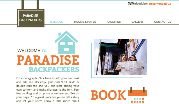 Apartamenty i hostele website templates – Hostel