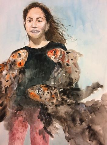 Goldfish Dreams- Watercolor