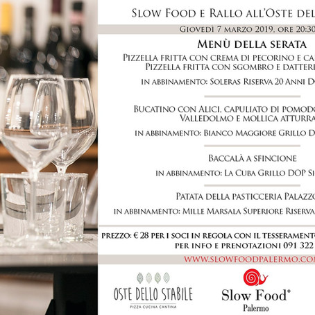 Slow Food e Rallo all'Oste dello Stabile