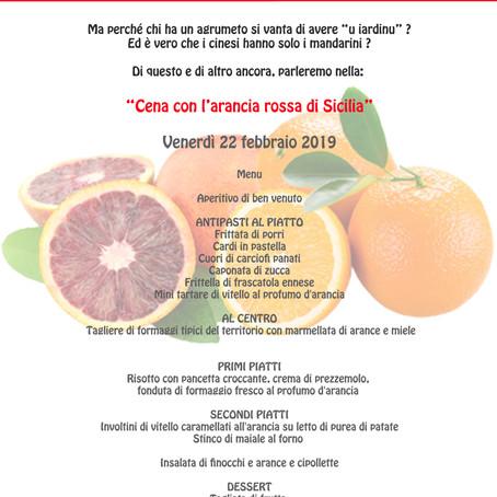 Cena con l'arancia rossa di Lentini