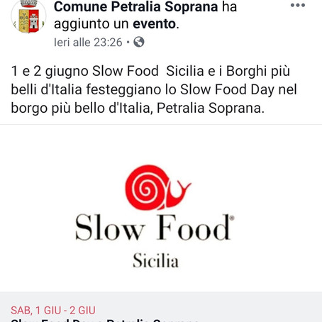 Slow Food Day -Tutti a Petralia Soprana