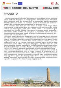 Calendario Regionale Sicilia.Treni Storici Del Gusto 2019 Progetto E Calendario