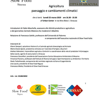 Agricoltura paesaggio e cambiamenti climatici