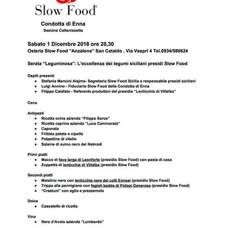 Serata leguminosa - L'eccellenza dei legumi siciliani presidi Slow Food