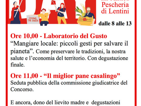 Slow Food Day a Lentini