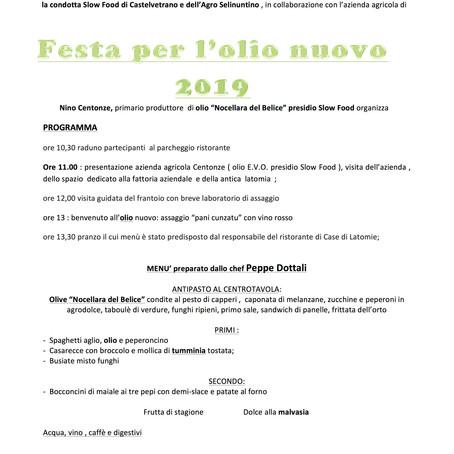 Festa dell'Olio nuovo 2019