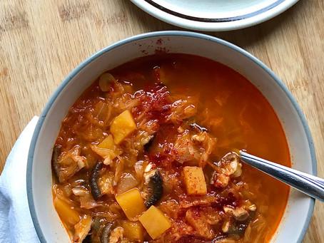 Sauerkraut & porcini mushroom soup