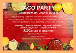 CCM Taco Party Sept 8 2018