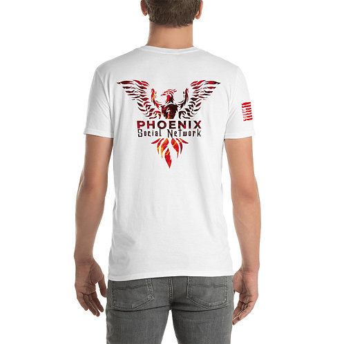 Phoenix Social Network - Back with Flag on Sleeve