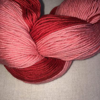 shade B - thick sashiko thread 180m skein red varigated