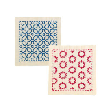 #SK297 light peach  hitomezashi sashiko coaster kit