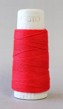 #88-09 Lecien Cosmo Hidamari sashiko thread 30m fine bright red