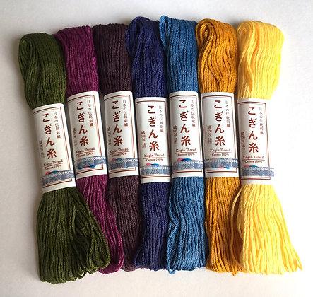 Kogin thread set x 7 'ayame' iris