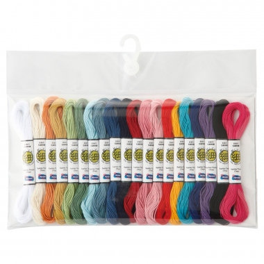 Miniskeins FINE 10m x 20 sashiko thread pack