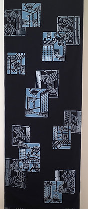 #YU013 vintage yukata cotton Japanese farmhouse interiors