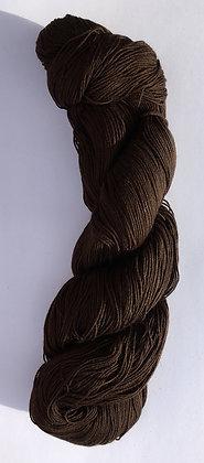#12 fine sashiko thread 370m skein dark brown