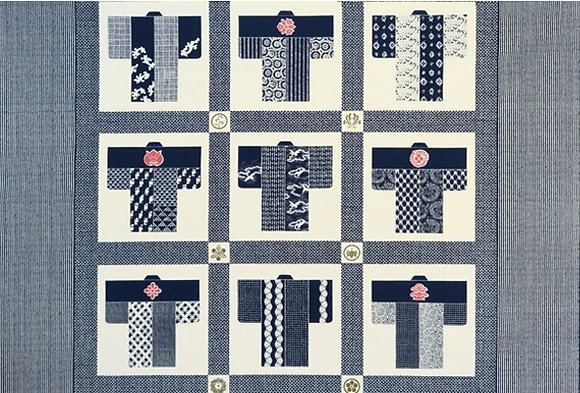 Takumi cotton kimono BLUE 110 x 74cm panel