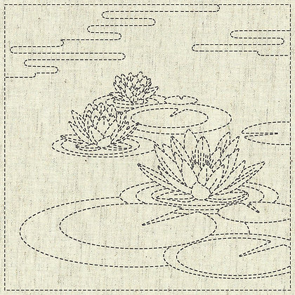 #KF2020-17 'Water Lily' designer hanafukin panel