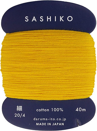 #204 golden yellow 40m fine Yokota Daruma sashiko thread