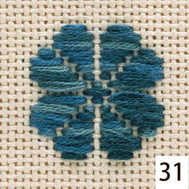#31 kogin thread indigo and teal 18m skein