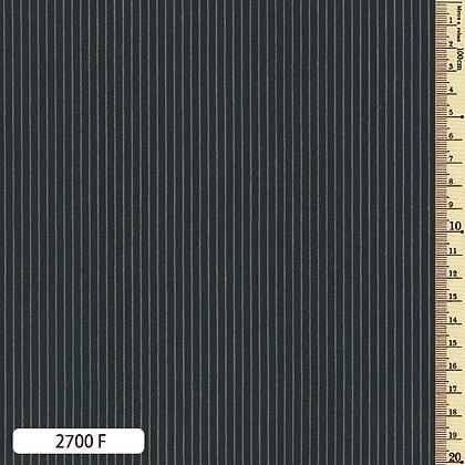 2700F striped shima momen cotton dark indigo blue by the half metre