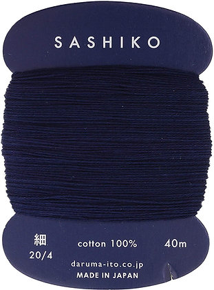 #216 extra dark indigo blue 40m fine Yokota Daruma sashiko thread