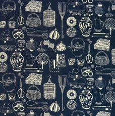 14N-8 B Takumi INDIGO BLUE cotton 'traditional' (per half metre)