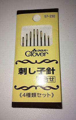 Clover sashiko needles 8 pack - Japanese packaging