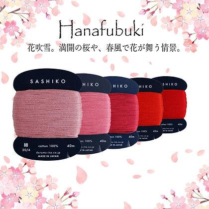 5 x 40m fine Yokota Daruma sashiko thread set 'hanafubuki'