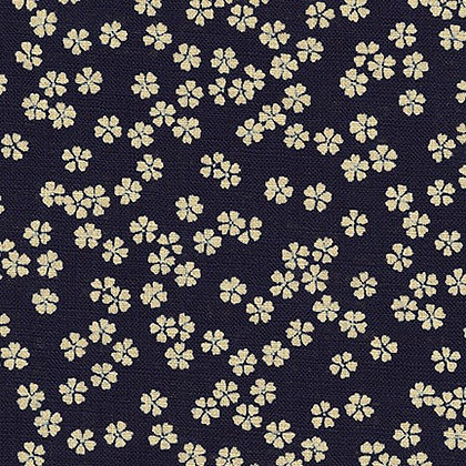Sakura by Sevenberry linen look cotton by 1/2m
