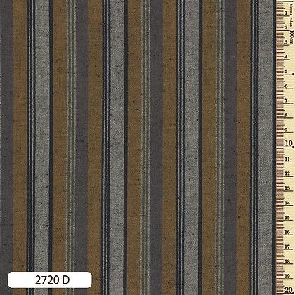 2720D striped shima momen cotton yellow light brown grey by the half metre