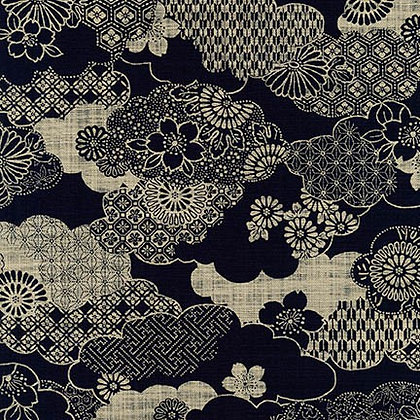 'kumo' by Sevenberry linen look cotton by 1/2m