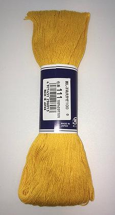 #111 golden yellow 100m medium sashiko thread
