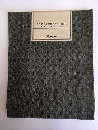 #SC006 Sakizome Momen dark grey green precut 35 x 50cm
