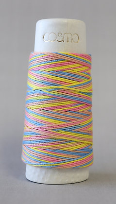 #89-303 Lecien Cosmo Hidamari sashiko thread 30m fine pink/yellow/blue