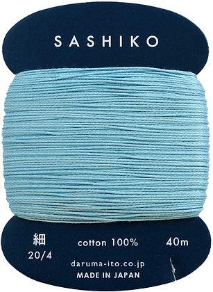 #226 light blue 40m fine Yokota Daruma sashiko thread